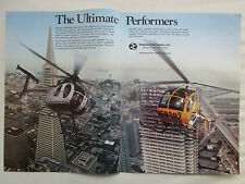 1/1981 PUB HUGHES HELICOPTERS CULVER CITY HUGHES 500D 300C BUILDING ORIGINAL AD