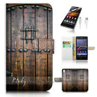 Sony Xperia Z5 Flip Wallet Case Cover! P0796 Old Door