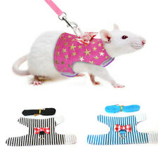 KQ_ Rabbit Hamster Harness Leash Animals Pet Pig Ferret Rat Squirrel Traction Ro