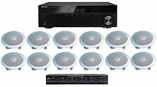 HOME AUDIO WHOLE HOUSE SOUND SYSTEM- CEILING SPEAKERS & VOL CTL BOX FOR 6 ROOMS