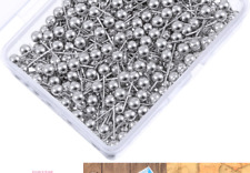 New listing 500 Pack Map Push Pins Map Tacks Small Size (Silver, 1/8 Inch) Silver 1/ 8 Inch