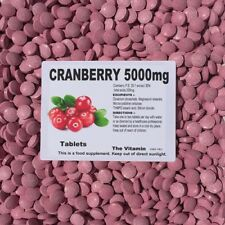 CRANBERRY 5000mg, 90 TABLETS (1 or 2 per day)       (L)