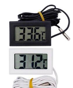 LCD Display Fish Tank Thermograph Probe tester Thermometer Aquarium Sensor UK