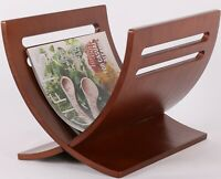 Solid Wood Magazine Rack Holder White Brown or Natural Color