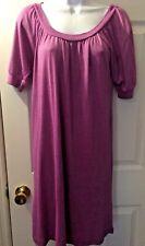 Women's MICHAEL STARS Purple Dress Scoop Neck Short Sleeve Sz OS One Size #0159