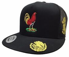 Gallo Chapo Guzman Hat Cara Lado �Guila En Visera Gold Logo Federal Black Mesh