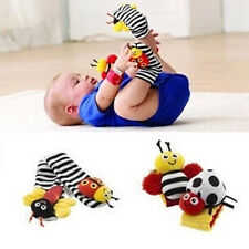 NEW SALE Genuine 4pcs Lamaze Baby Infant Kids wrist Hands Foot socks rattle toy