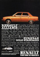 Classic Vintage Advertisement Ad D42 1981 Renault 18i Presenting