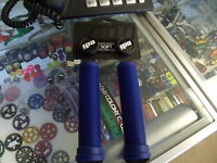 ODI LONGNECK SOFT FLANGELESS BLUE BMX BICYCLE SCOOTER BIKE FIXED GRIPS