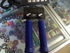 ODI LONGNECK SOFT FLANGELESS BLUE BMX BICYCLE SCOOTER BIKE FIXED GRIPS
