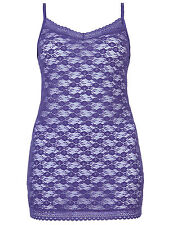 EX M&S HALANKA CAMI/VEST TOP IN PURPLE OR SUNSET LACE 12,14,16,18,20 £4.99