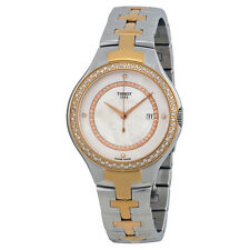 Tissot T12 Mother of Pearl Dial Dimond Set Two-tone Ladies Watch T0822106211600
