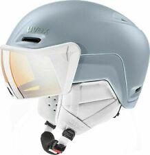 ⭐ Uvex hlmt 700 Visor Ski Snowboard Helmet - Dust Blue Matt 55-59cm - RRP £180 ⭐