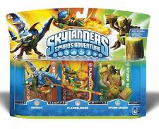 Skylanders Spyros Adventure Triple 3- Pack Drobot Flameslinger Stump Smash NEW