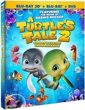 A TURTLE'S TALE 2 SAMMY'S ESCAPE FROM PARADISE New Blu-ray 3D + Blu-ray + DVD