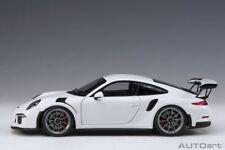 Porsche 911 (991) GT3 RS 2018 White Dark Grey Wheels 1:18 AUTOart 78166  New