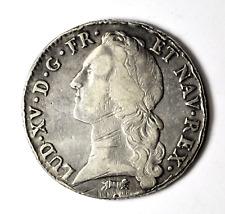 1763 R France Silver Ecu Coin KM#512.18 Rare