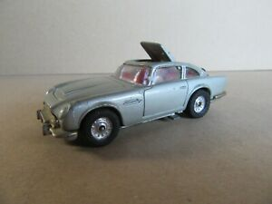 182M 1977'S Corgi 270 James Bond Goldfinger Aston Martin DB 5 Whizz Wheels 1:43