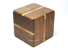 6 Step Japanese Puzzle Box Secret Yosegi Hakone 2.6 Sun Trick Opening Crafted M