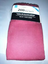 SPRING MAID TWIN  Flat Sheet 200 Thread Count 1 burgundy cotton/ poly blend new