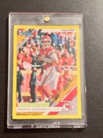 2019 Panini Donruss Patrick Mahomes II Yellow Press Proof #1 Kansas City Chiefs!
