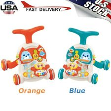 New listing 2 In 1 Piano Baby Discover Educational Learning Walker babies Toy W/Sound &Light