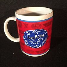 Ford Motor Company Commemorative 1903 Logo Coffee Mug Detroit, MI
