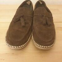 Mens DUNE brown Suede Tassel Loafer Shoes Size 8  EU42