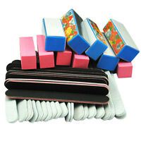 40PCS SANDING BUFFER SHINER BLOCK MANICURE PEDICURE GEL NAIL ART FILES TOOL SET