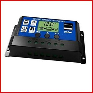 JZK® 20A 12V/24V Intelligent solar panel charge controller with LCD display &