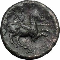 LARISSA in THESSALY 350BC NYMPH & HORSEMAN Authentic Ancient Greek Coin i49152