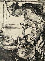 Georges Gobo gravure eau forte etching Artisan Cordonnier Sabotier