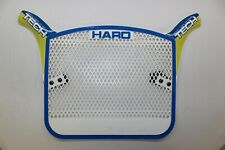 NOS HARO TECH PLATE ORIGINAL 80's BMX NUMBER PLATE BLU/YELLOW