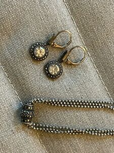 Judith Jack marcasite choker necklace and dangle earrings - lovely!