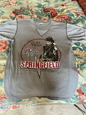 Rick Springfield 1982 Tour Tee Shirt 80s Henley Grey Collectible Unisex Sm-Med