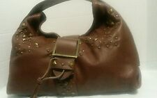 KAREN MILLEN LEATHER WOMEN HAND BAG COLOR BROWN NEW LTH 10 IN WTH 14 IN STRAP 4