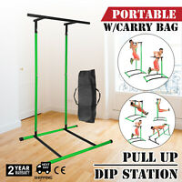 Portable Pull Up Dip Station Power Tower Chin Up Stand w/bag
