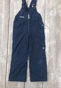 COLUMBIA Sportswear Unisex Kids Overall Winter Ski Blue Pants Bib Size 10/12 USA