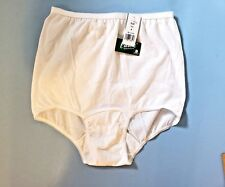 "4""Wide Gusset White Panties Cotton Sz 6 Carole Made in USA New w Tags Style 636"