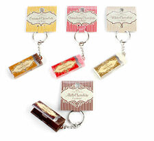 FOR CHOCOLATE LOVERS EVERYWHERE NO CALORIES !  2 LIP BALMS ON KEYRING  GIFTSET