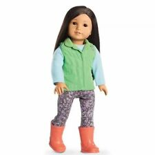 American girl Z Yang's Rainy Day Outfit Vest Boots Leggings Shirt NEW RETIRED