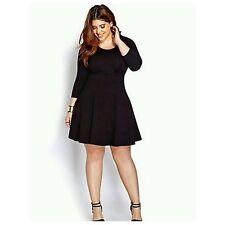 Rue 21 Black Plus Size Skater Stretch Dress Womens Sz XL 1X NEW *USA*