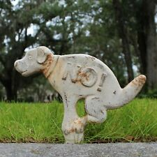 No Pooping Dog Sign Old Cast Iron Style Lawn Ornament