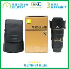 New Nikon AF-S NIKKOR 24-70mm f/2.8 E G ED VR Lens - 3 Year Warranty