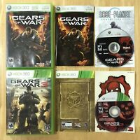 Gear of War 1 & 3 Xbox 360 Bundle Lot Complete CIB Manuals Inserts Tested