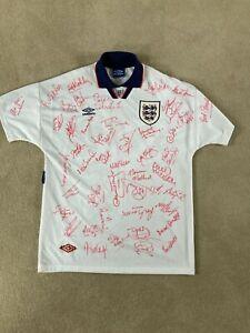 England Match Worn Multi Signed Shirt
