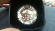 Australia Year of the Dragon 1 oz 2012 Proof Colored Silver Crown Perth Mint HTF