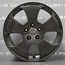 """GENUINE AUDI A3 SPORT S-LINE GREY ANTHRACITE 17"""" INCH ALLOY WHEELS X4, VW T4"""