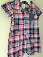 NWT Carter's Adorable Baby Boy Pink Blue Plaid One Piece Shirt Bodysuit 9 M $28