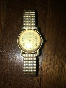 Vintage 1993 Gold Guess Watch, Stretch Band